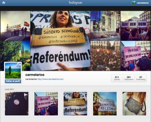 La cuenta de Instagram