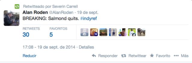 Tweets Escocia